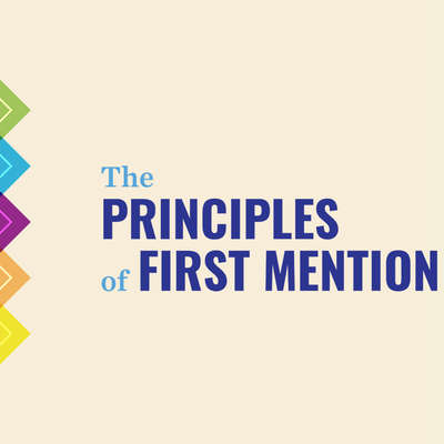 The Principles of First Mention